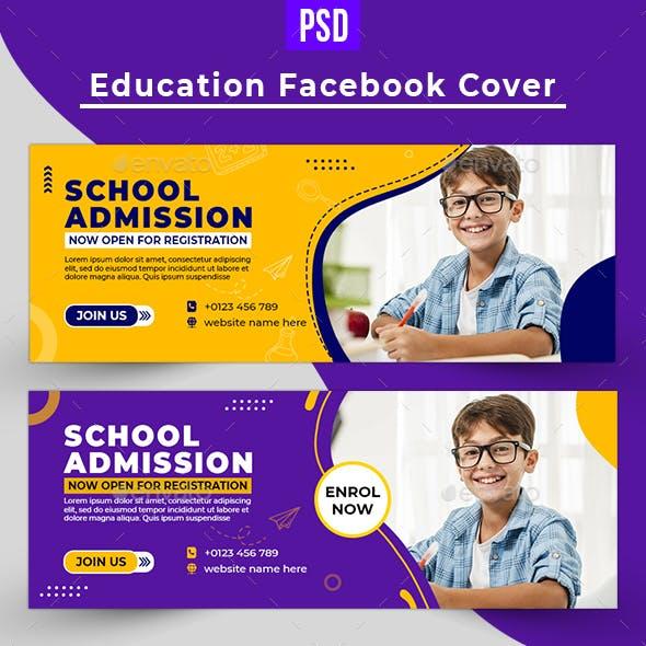 School Facebook Cover template