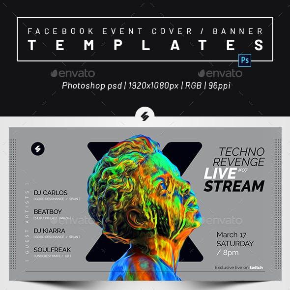 Livestream DJ Session 5 – Facebook Event Cover Templates