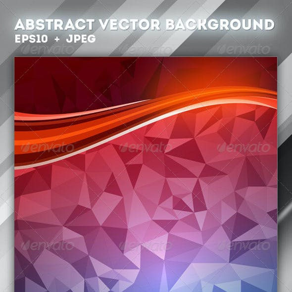 4 Abstract Vector Polygon Backgrounds