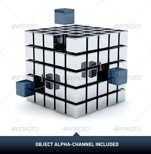 Metal Cubes 01 - Objects 3D Renders
