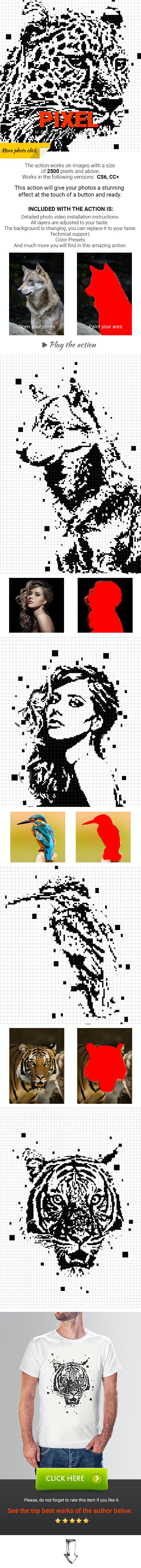 Pixel Photoshop Action - Photo Effects Actions