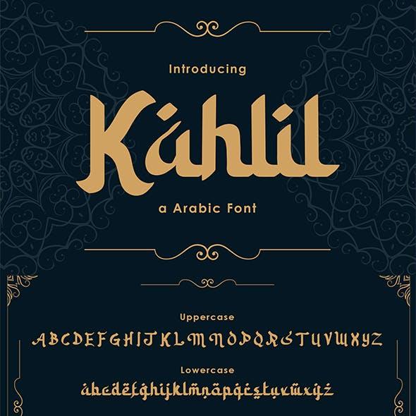 Kahlil - Arabic Font