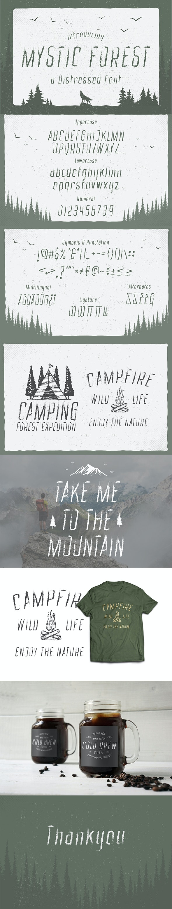 Mystic Forest - Distressed - Decorative Fonts