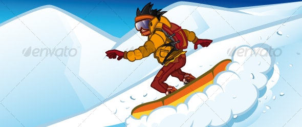 Snowboarder - Characters Vectors