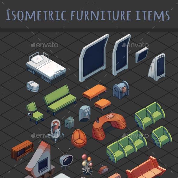 Sci-fi Isometric Furniture