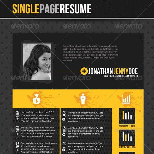 Stylish - Single Page Resume