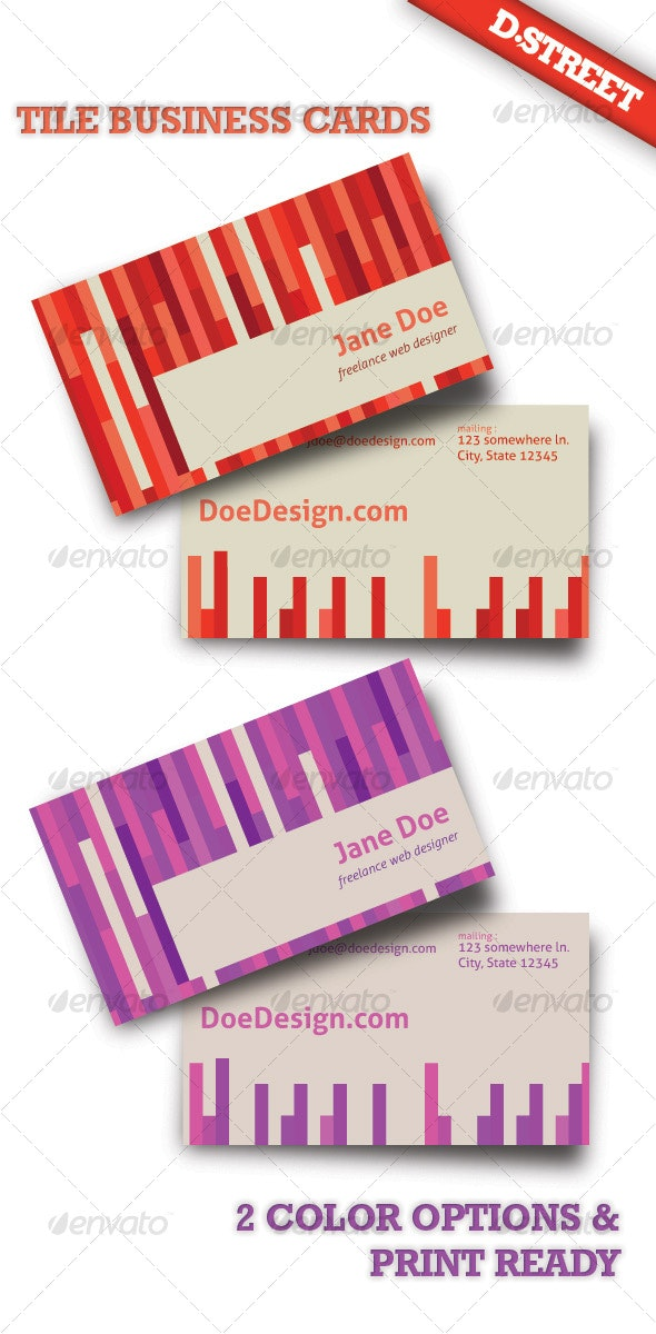 Tile Business Cards - Creative Business Cards