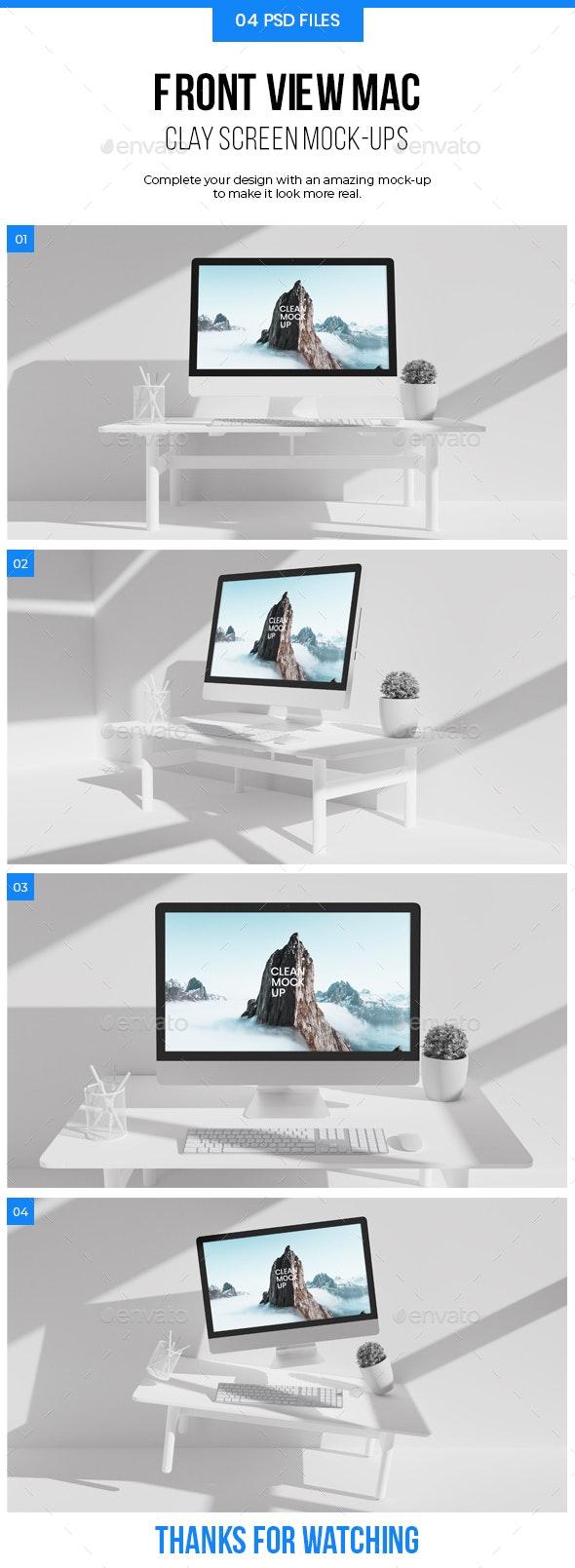 Clay Mac Mockup - Product Mock-Ups Graphics