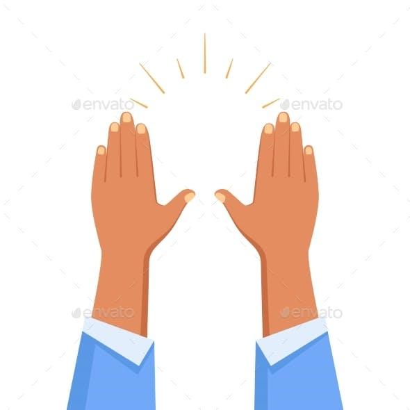 Raise Hands Gesture Composition