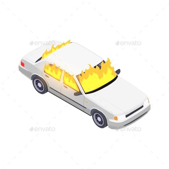 Burning Car Insurance Composition