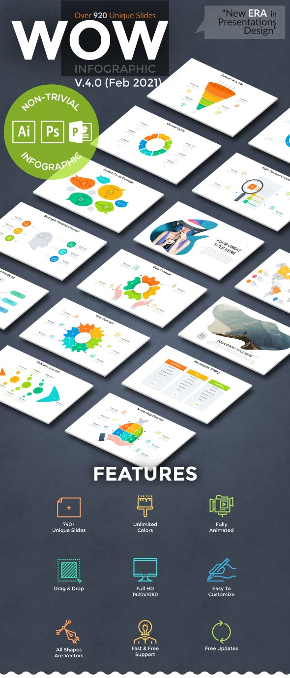 Wow Slides For Powerpoint. U-4 (178 New Slides!) - Business PowerPoint Templates