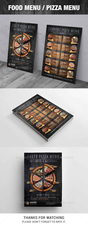 Food Menu / Pizza Menu - Food Menus Print Templates