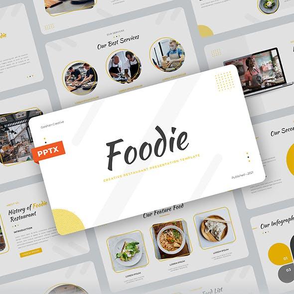 Foodie – Creative Food Restaurant PowerPoint Template