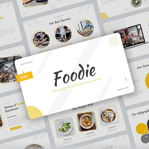 Foodie – Creative Food Restaurant Google Slides Template