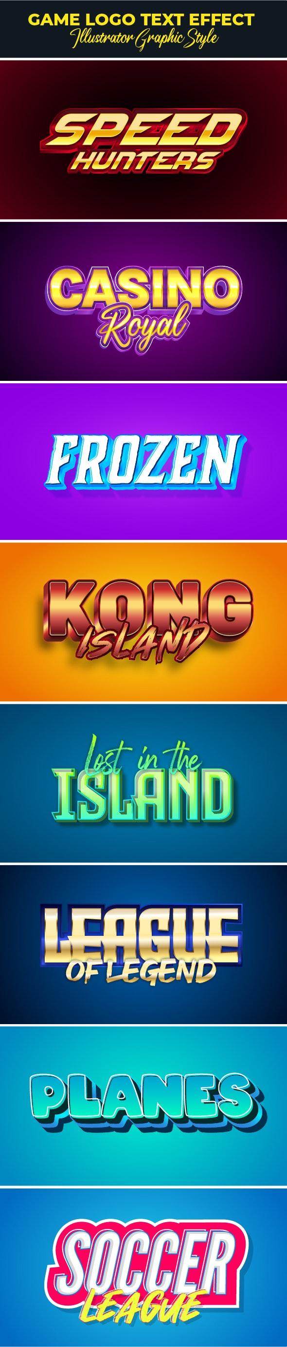 Modern Game Logo Text Effect - Styles Illustrator
