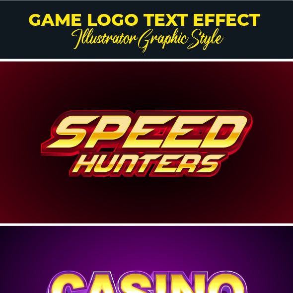 Modern Game Logo Text Effect