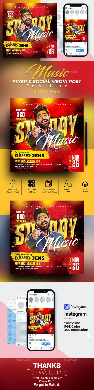 Artist Flyer & Social Media Post Templates - Clubs & Parties Events