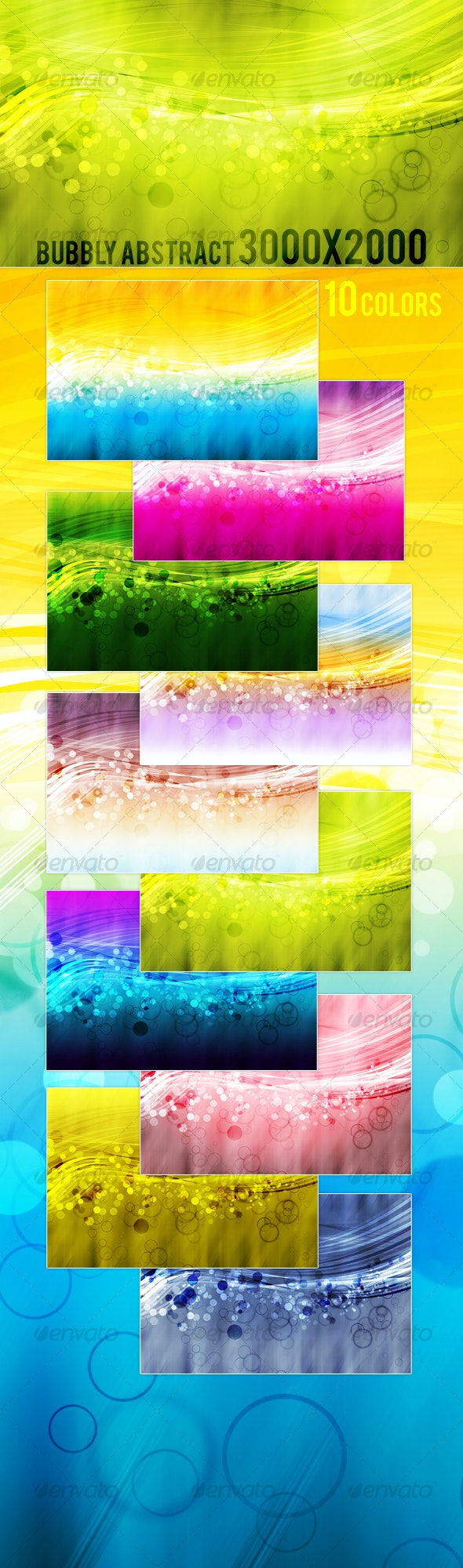 Bubbly Abstract Background Pack - Backgrounds Graphics