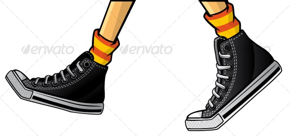 Gumshoes steps isolation - Sports/Activity Conceptual