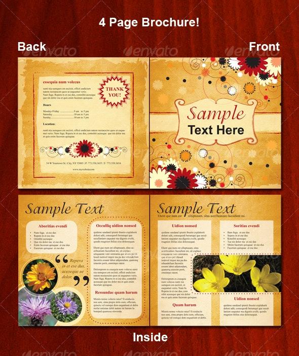 4 Page Floral Brochure - Corporate Brochures