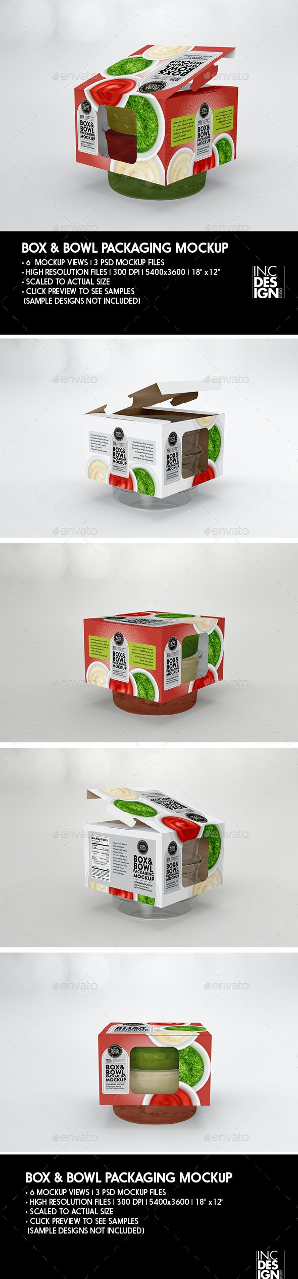 Retail Box and Bowl Packaging Mockup - Food and Drink Packaging