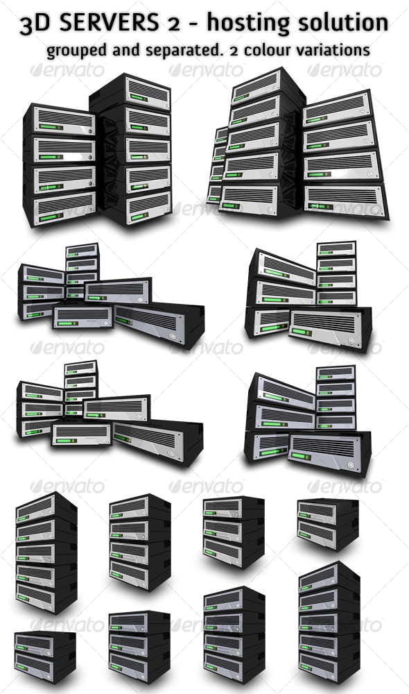 3D Servers 2 - Ultimate Hosting Solution - Technology 3D Renders