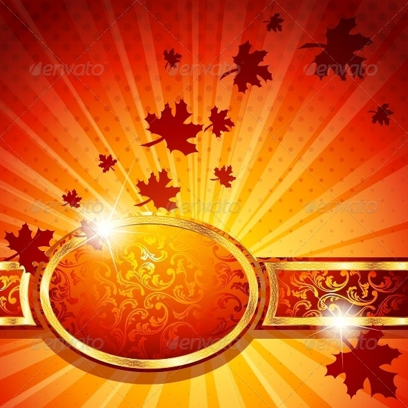 Elegant Autumn Banner - Seasons Nature
