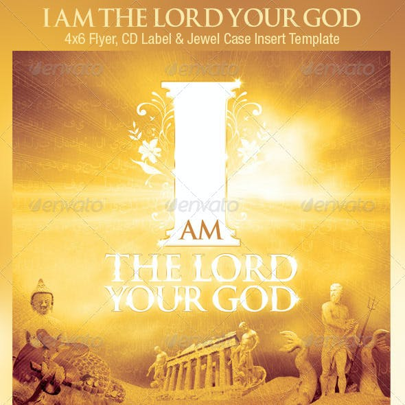 God Church Flyer CD Template