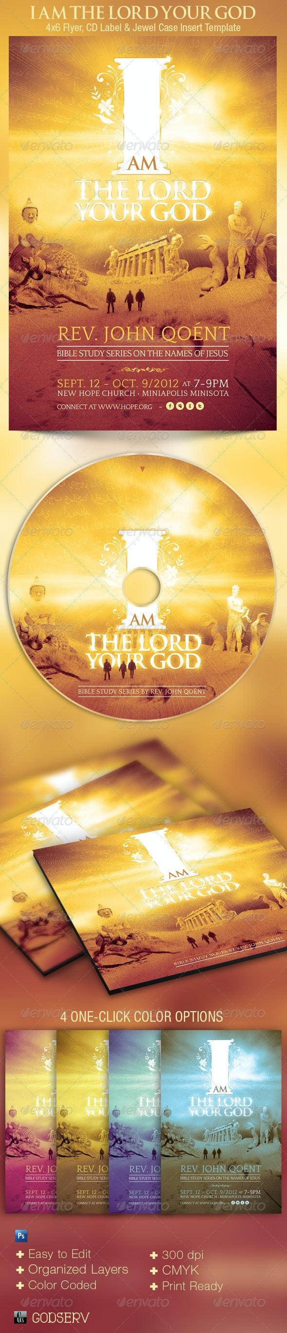God Church Flyer CD Template - Church Flyers
