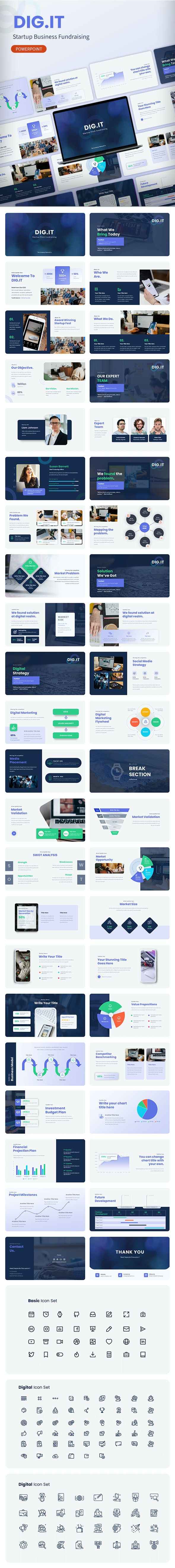 DIGIT – Startup Business Fundraising Powerpoint - Business PowerPoint Templates