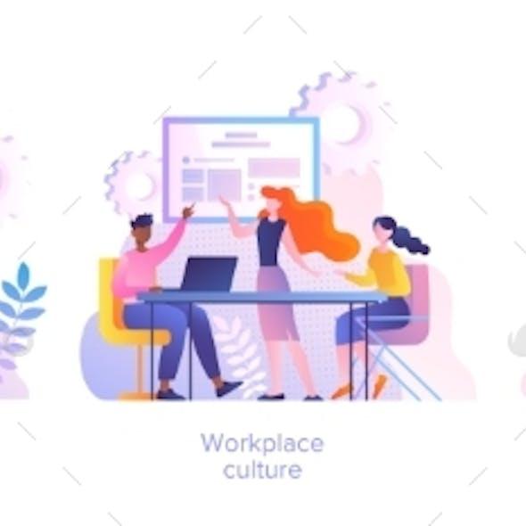Workplace Culture Concept