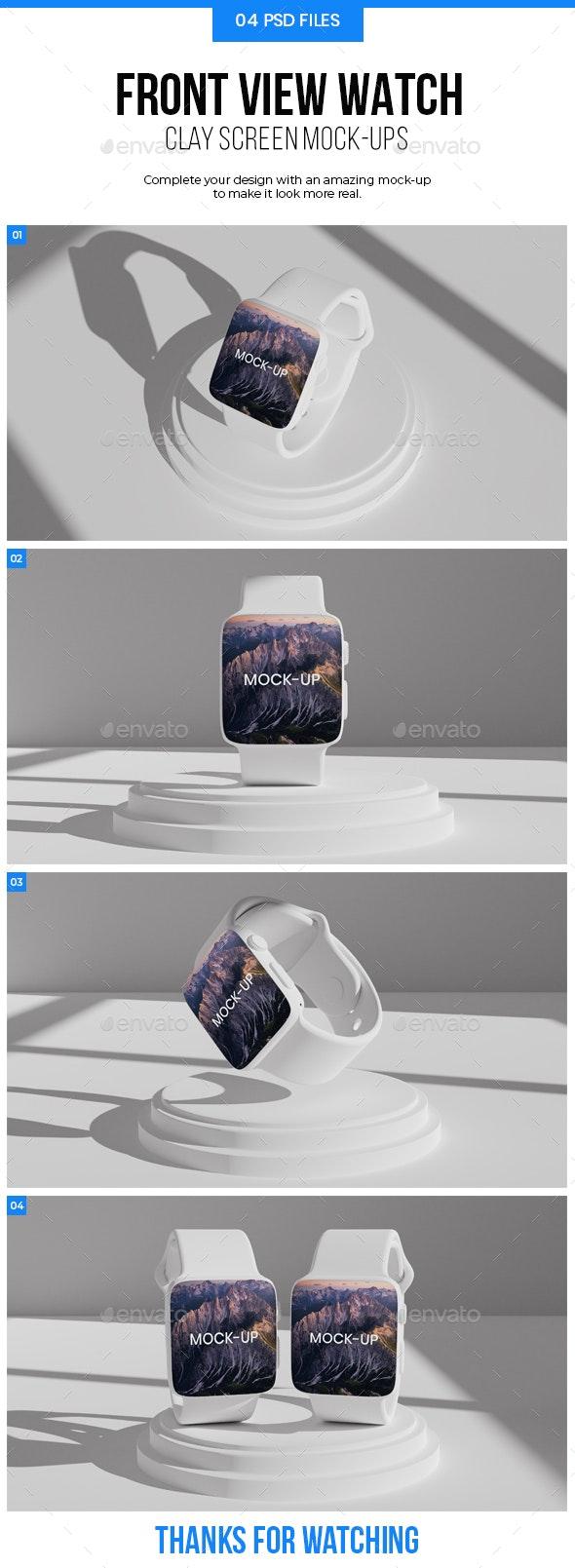 Clay Watch Mockup - Product Mock-Ups Graphics