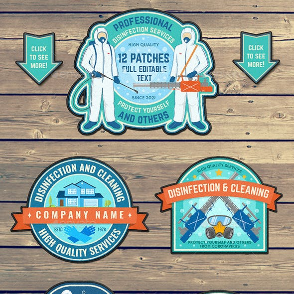 Disinfection Services Patches