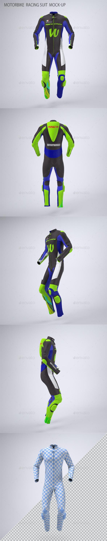 Motorbike  Racing Suit  Mock-Up - Apparel Product Mock-Ups