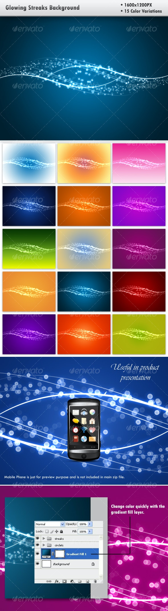 Glowing Streaks Background - Abstract Backgrounds