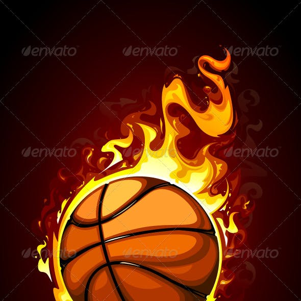 Burning basketball
