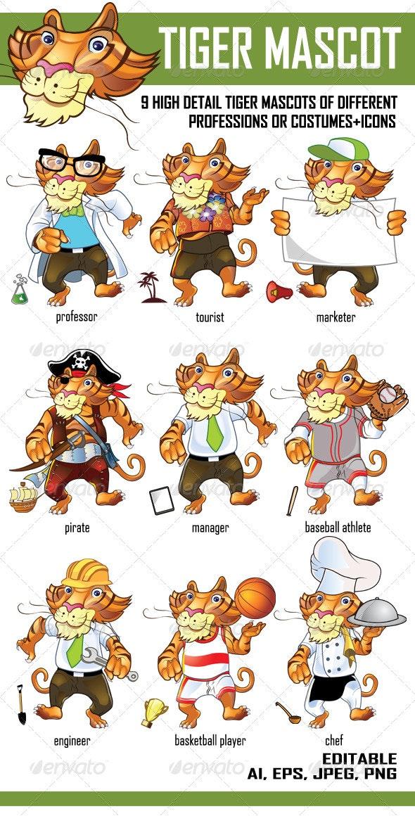 Tiger Mascot - Animals Characters