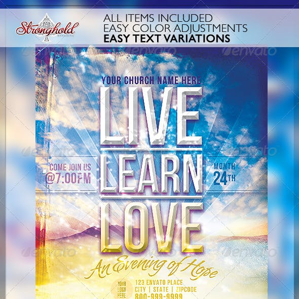 Live Learn Love Flyer Template