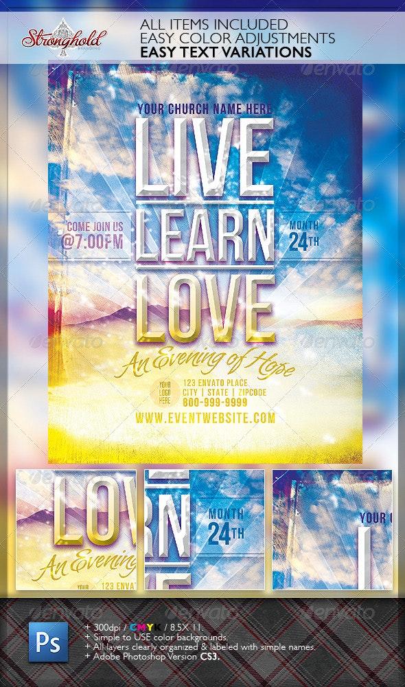 Live Learn Love Flyer Template - Church Flyers