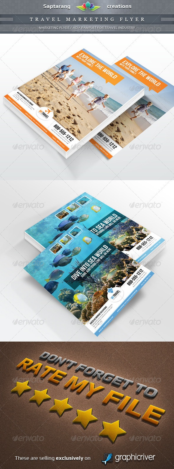 Travel Agency Marketing Flyer - Corporate Flyers