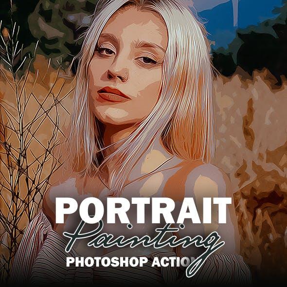 Portrait Painting - Photoshop Action