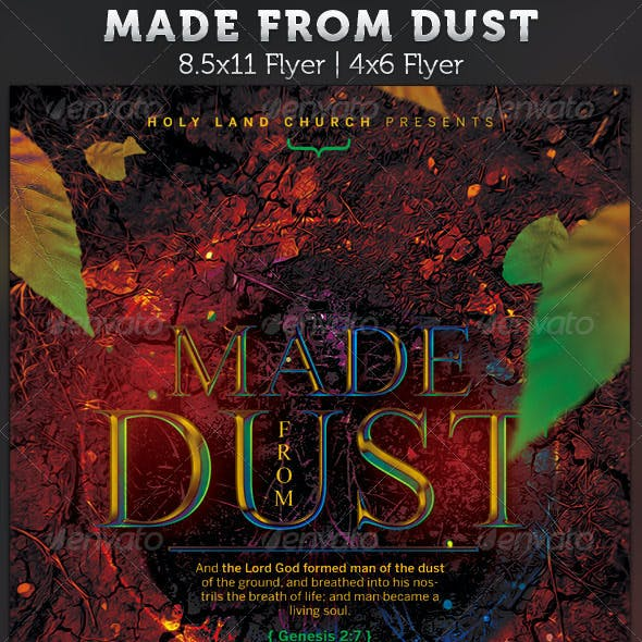 Made From Dust: Church Flyer Template
