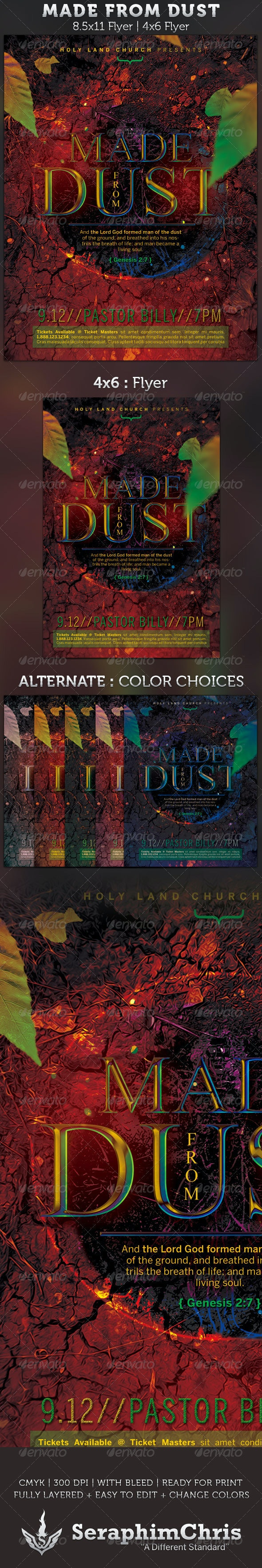 Made From Dust: Church Flyer Template - Church Flyers