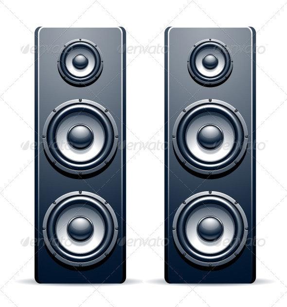 Two audio speakers - Vectors