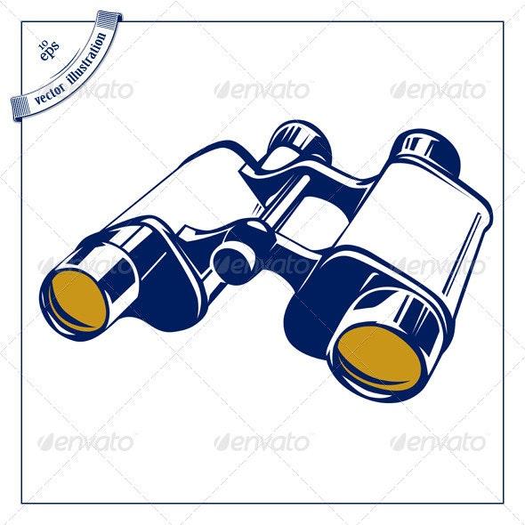 Binoculars Icon - Retro Technology