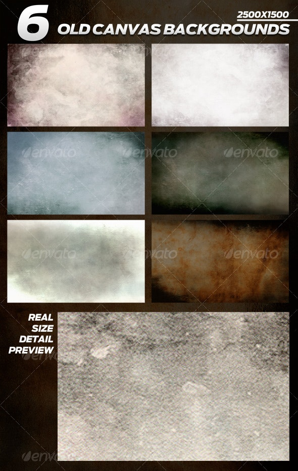6 Old Canvas Backgrounds - Backgrounds Graphics