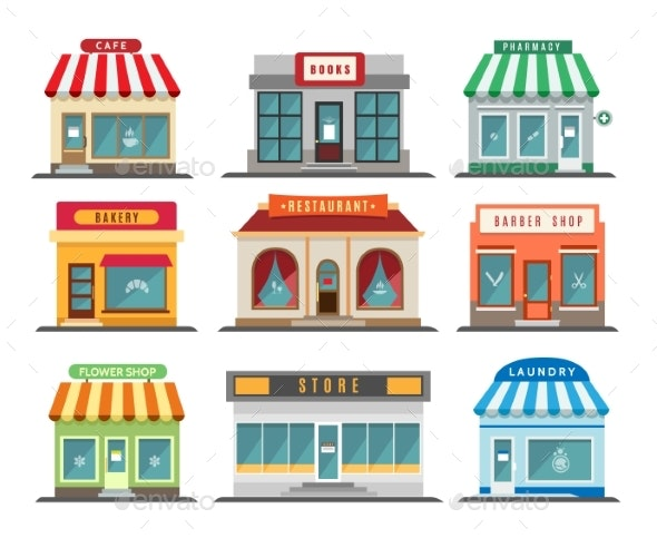 Shops Stores Exteriors - Buildings Objects