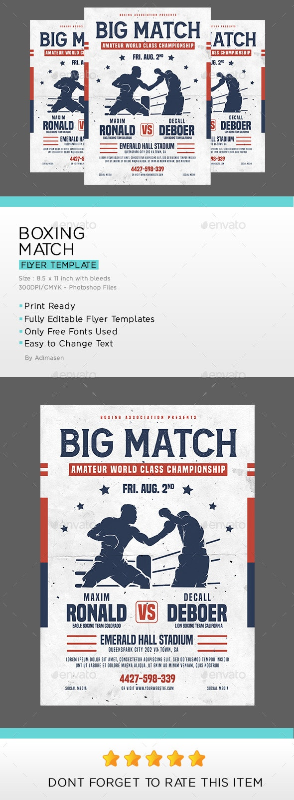Boxing Match Flyer - Sports Events