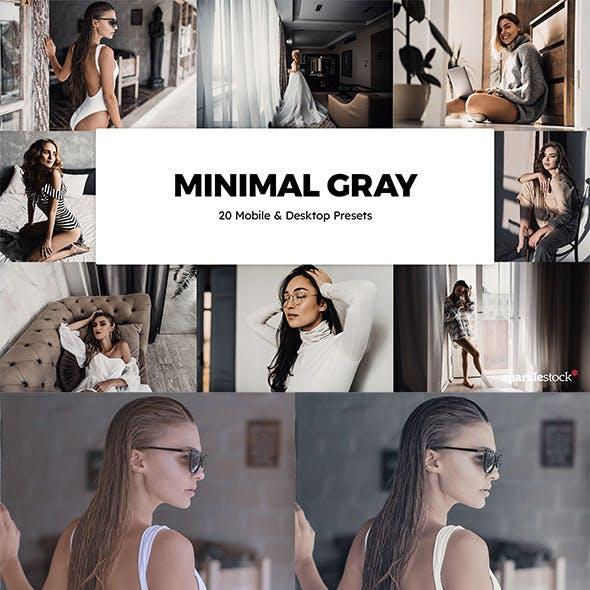 20 Minimal Gray Lightroom Presets & LUTs