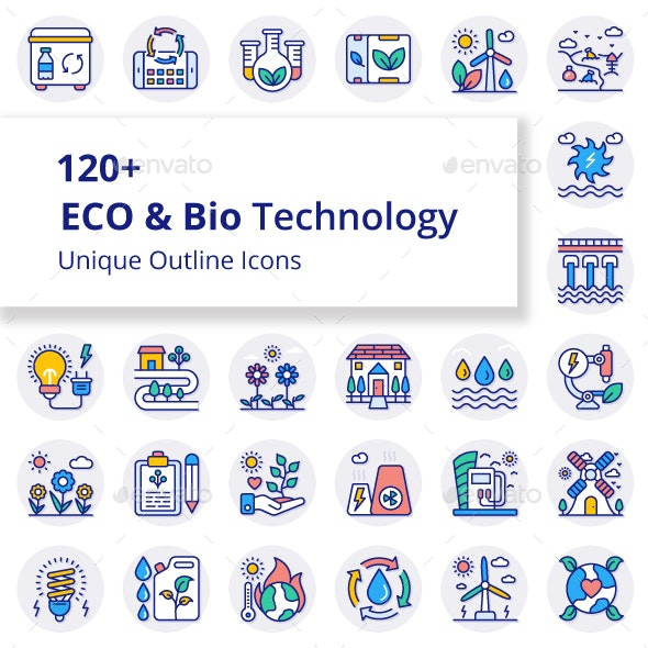 ECO and Bio Technology Unique Filled Round Icons - Miscellaneous Icons